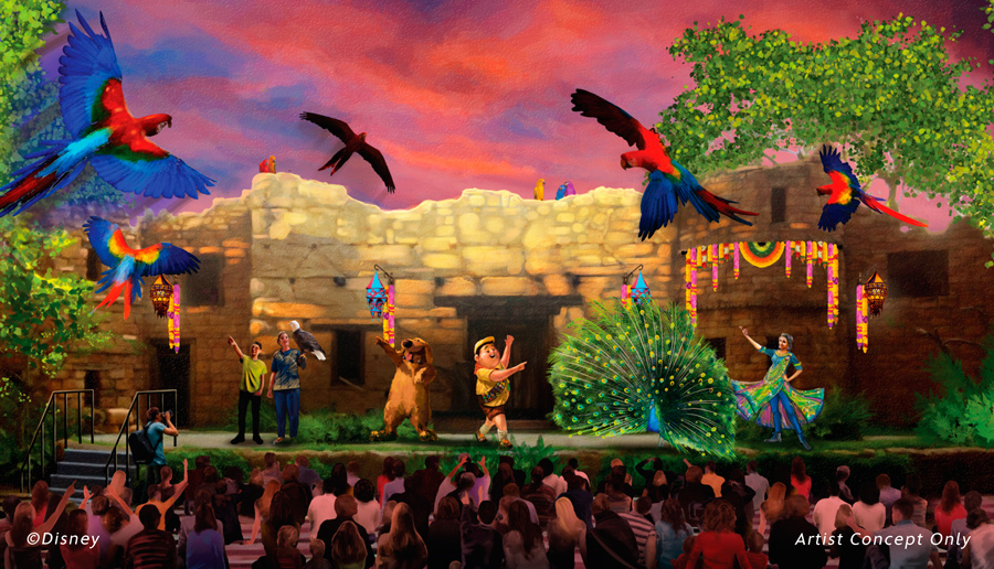 Arte conceitual para UP! A Great Bird Adventure, Animal Kingdom, Orlando