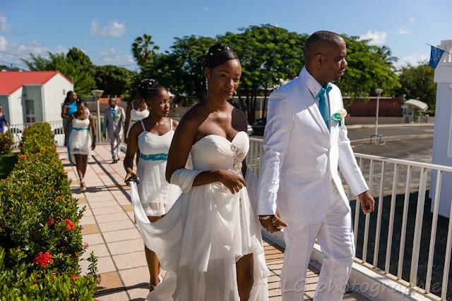 mariage guadeloupe mairie Goyave les mariés