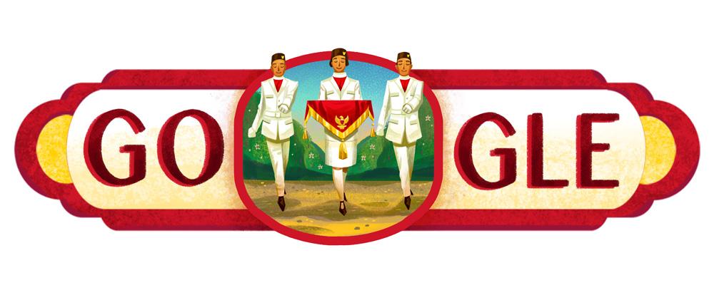 Google Doodle Peringati HUT ke-71 Kemerdekaan RI