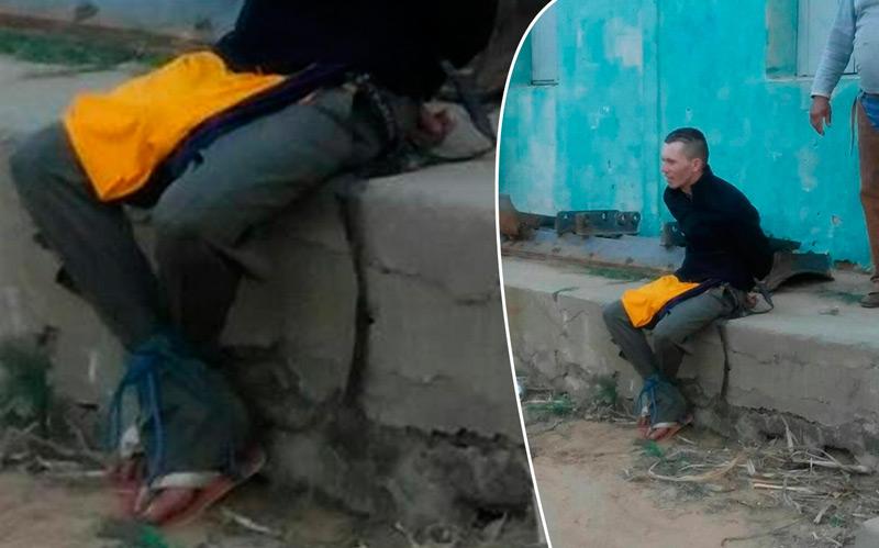 A acusado foi desarmado e contido pelas vítimas – Foto Reprodução