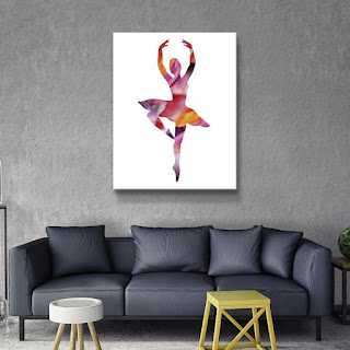 Watercolor Ballerina Silhouette by artist illustrator Irina Sztukowski