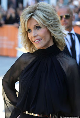 Jane Fonda in black on Hello Lovely Studio