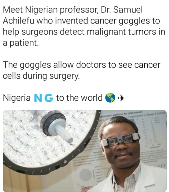 Nigerian Doctor Invents Googles That Detect Cancer