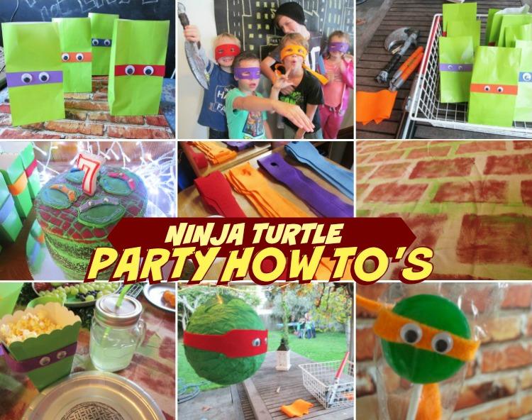 Teenage Mutant Ninja Turtle Party How To's