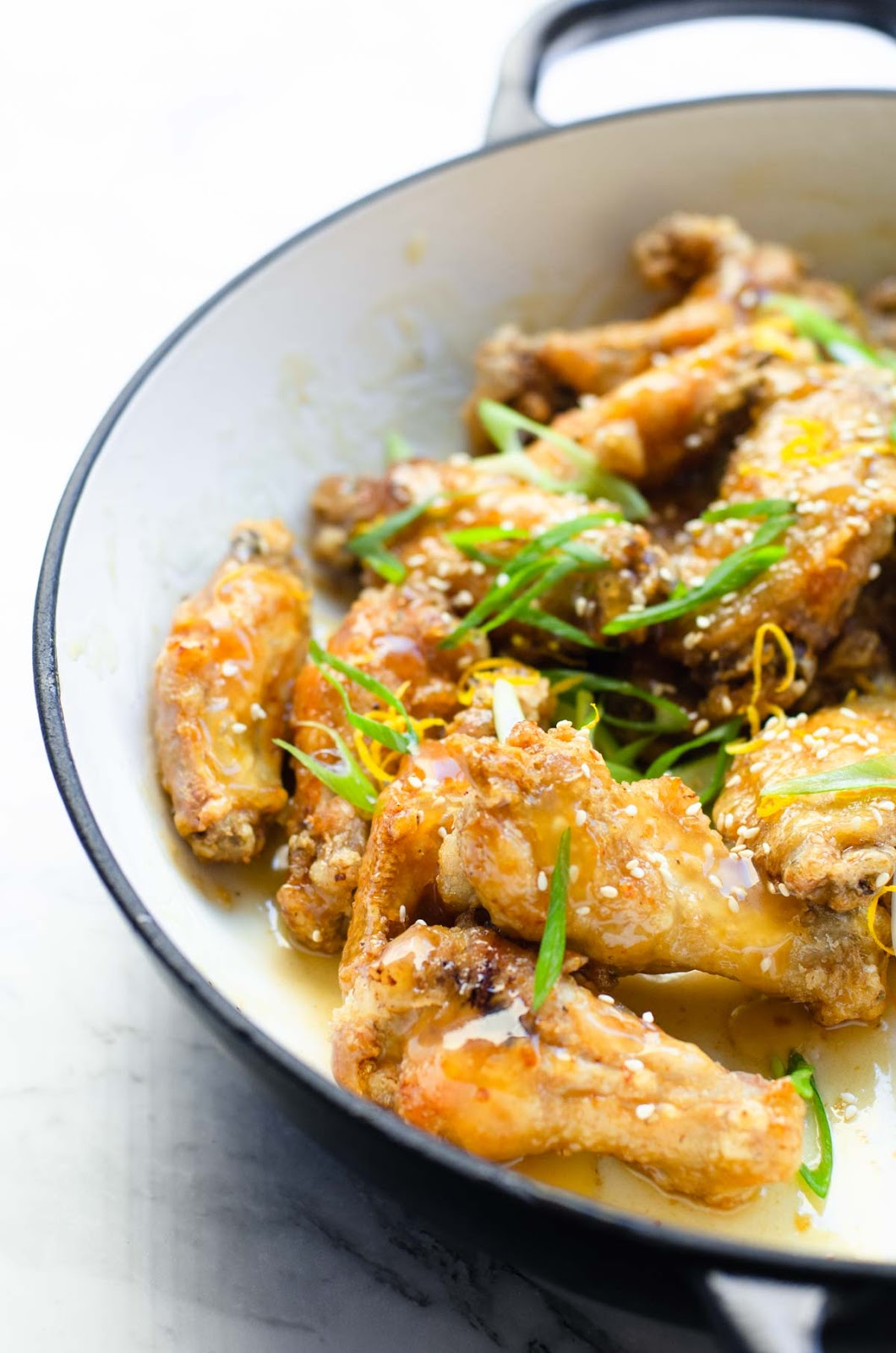 Crispy and Sticky Lemon Chicken Wings image