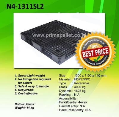 Palet Plastik N4 1311SL2 Murah Untuk Tatakan, Alas Gudang