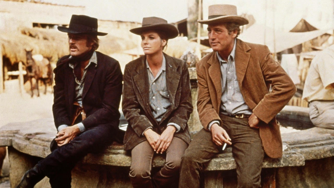 Robert Redford, Paul Newman in Butch Cassidy and the Sundance Kid, Directed by George Roy Hill