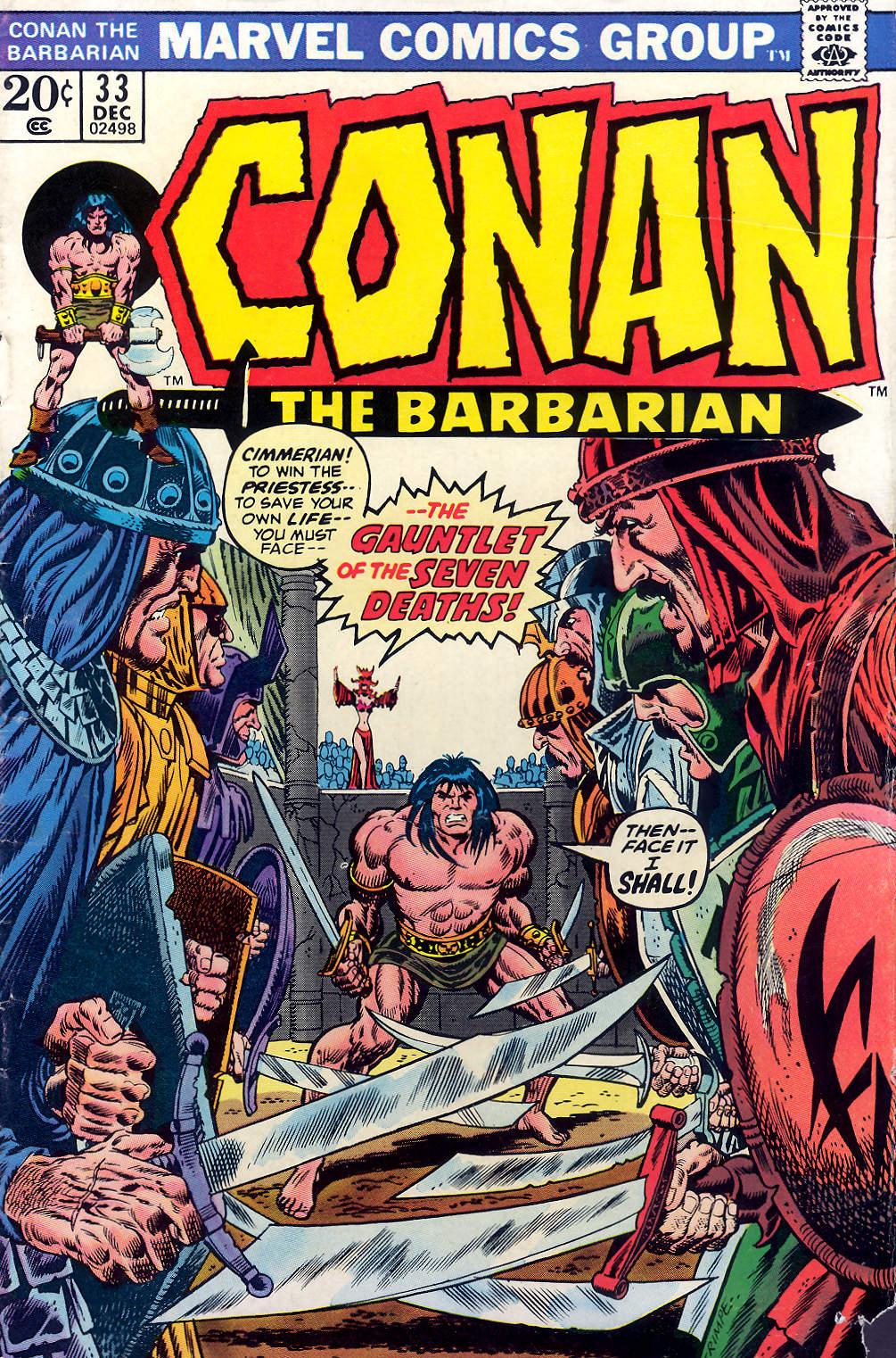 Conan the Barbarian (1970) 33 Page 1