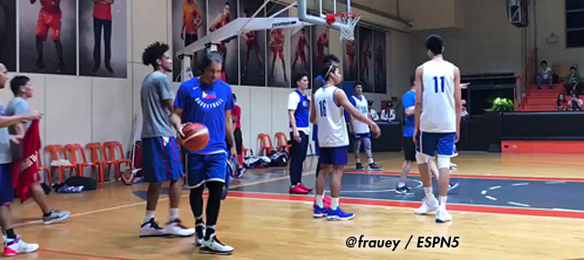 Gilas Pilipinas' First Practice for the Fifth Window of the FIBA World Cup Asian Qualifiers (VIDEO) November 12