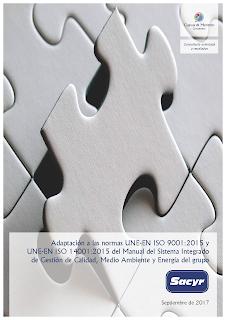 Contrato con grupo Sacyr para ayudarles a adaptar su Manual Corporativo a las nuevas normas ISO 9001 e ISO 14001 de 2015.