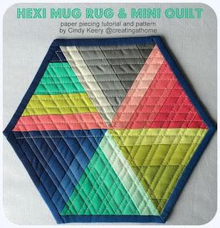 Free Hexi Mug Rug Pattern