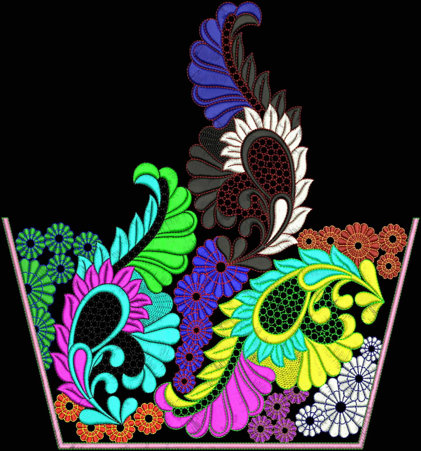 Sherry's Embroidery Digitizing: Arebian Neck Embroidery
