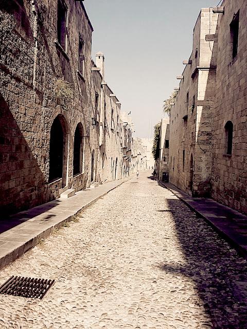 Medieval street in Rhodes