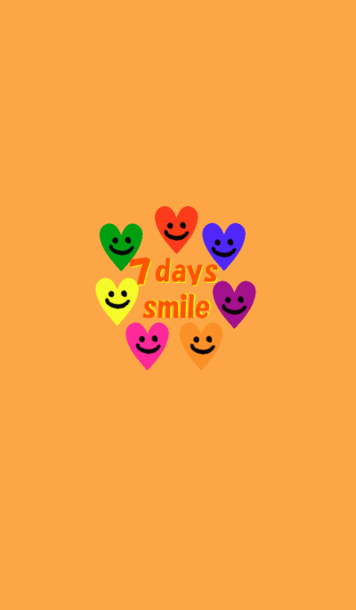 7days smile heart orange