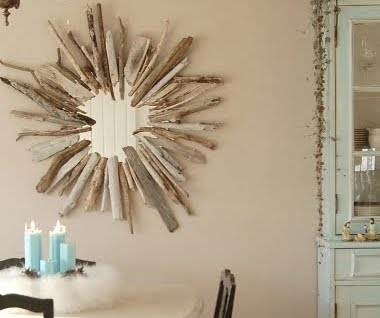 homemade sunburst mirror