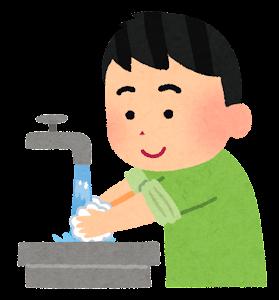 手洗いのイラスト(手を洗う)
