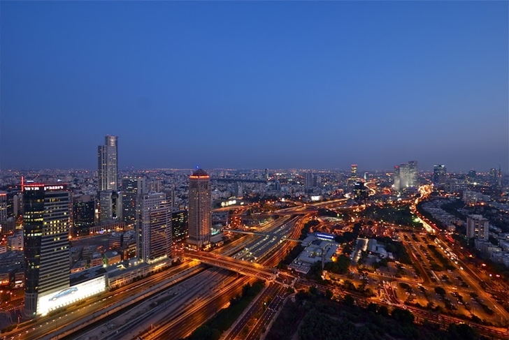 Tel Aviv view at night