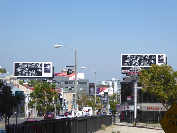 MTV Video Music Awards 2016 billboards Sunset Strip
