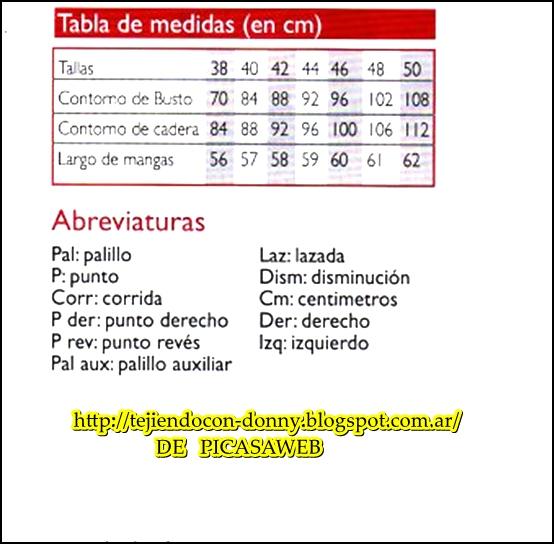 TRICOT, TEJIDO A DOS AGUJAS: Símbolos en español para tejer a dos agujas