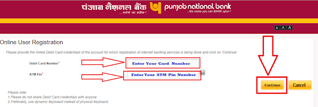 HOw to enable net banking online in pnb bank
