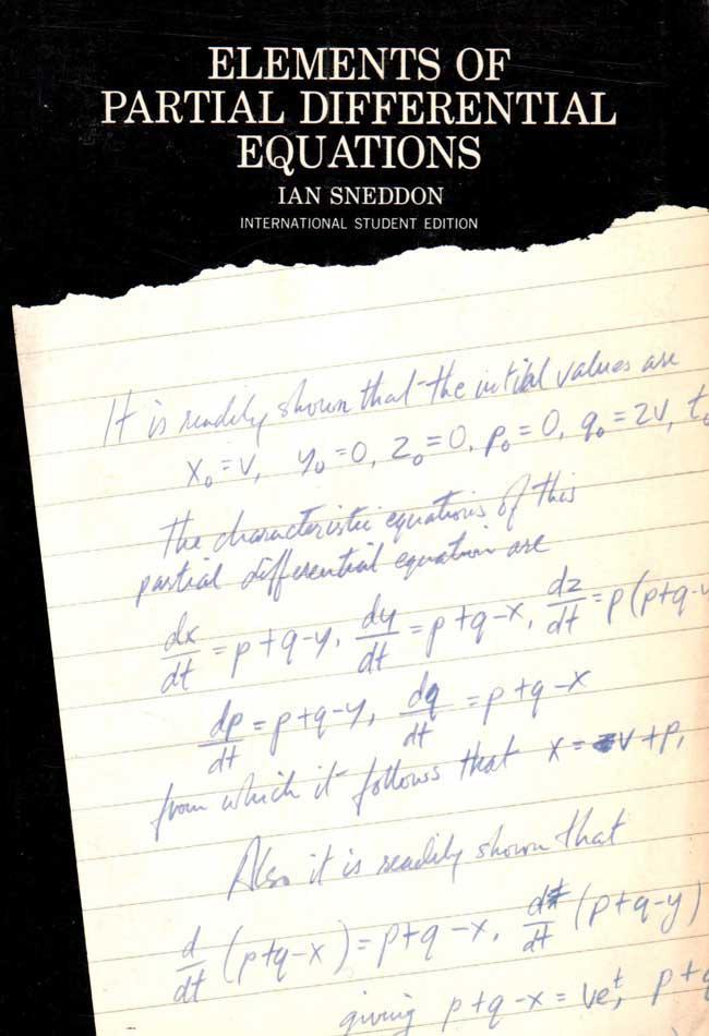 Elements of partial differential equations – Ian Sneddon