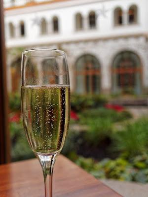 Welcome glass of cava