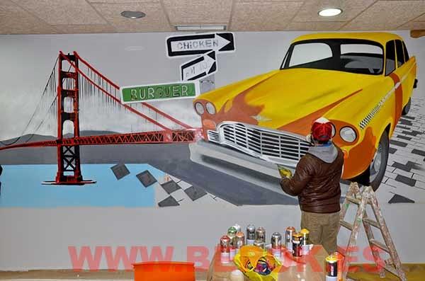 Graffiti Taxi New York
