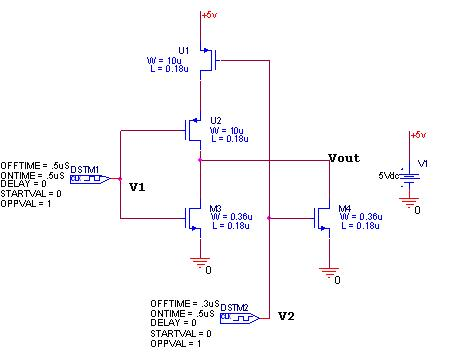 cmos nor circuit diagram