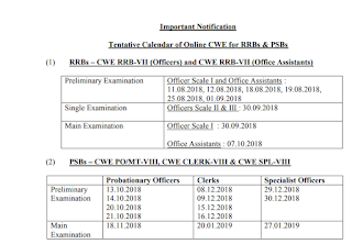 IBPS Exams 2018 Calendar PDF Download IBPS 2018 Important Dates