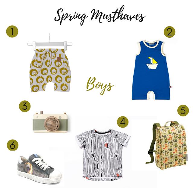 Spring musthaves jongens, kindermode, lente 2017, SS17
