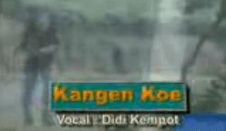 Lirik Lagu Kangen Kowe - Didi Kempot