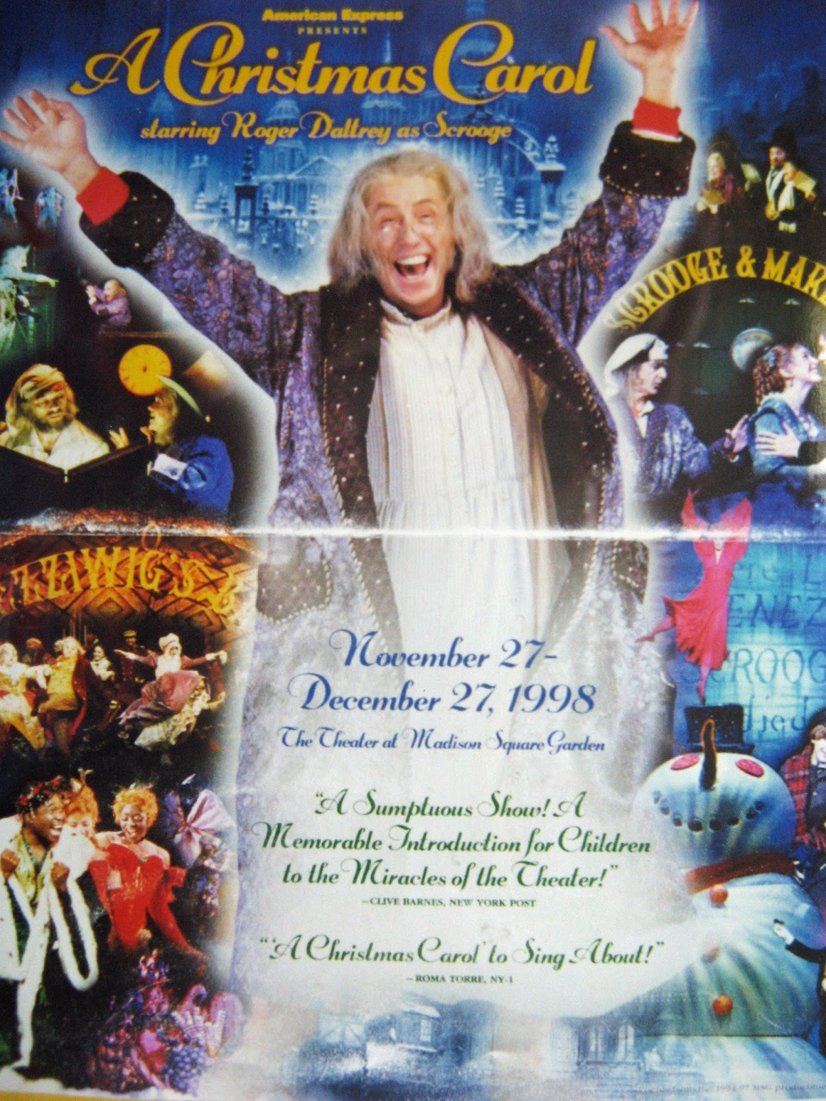 Roger Daltrey plays Scrooge in A Christmas Carol 1998