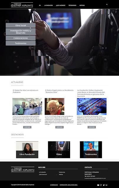portada de la web de la fundación Esther Koplowitz