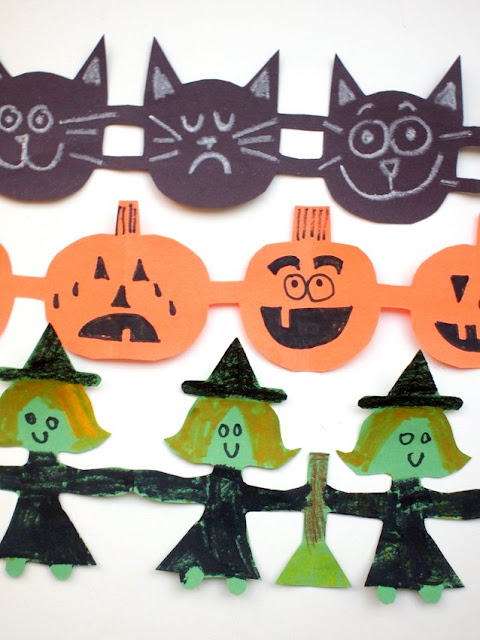 Fun Halloween Paper Cut Chains Kids Craft