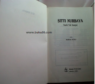 Novel siti nurbaya by Marah Rusli