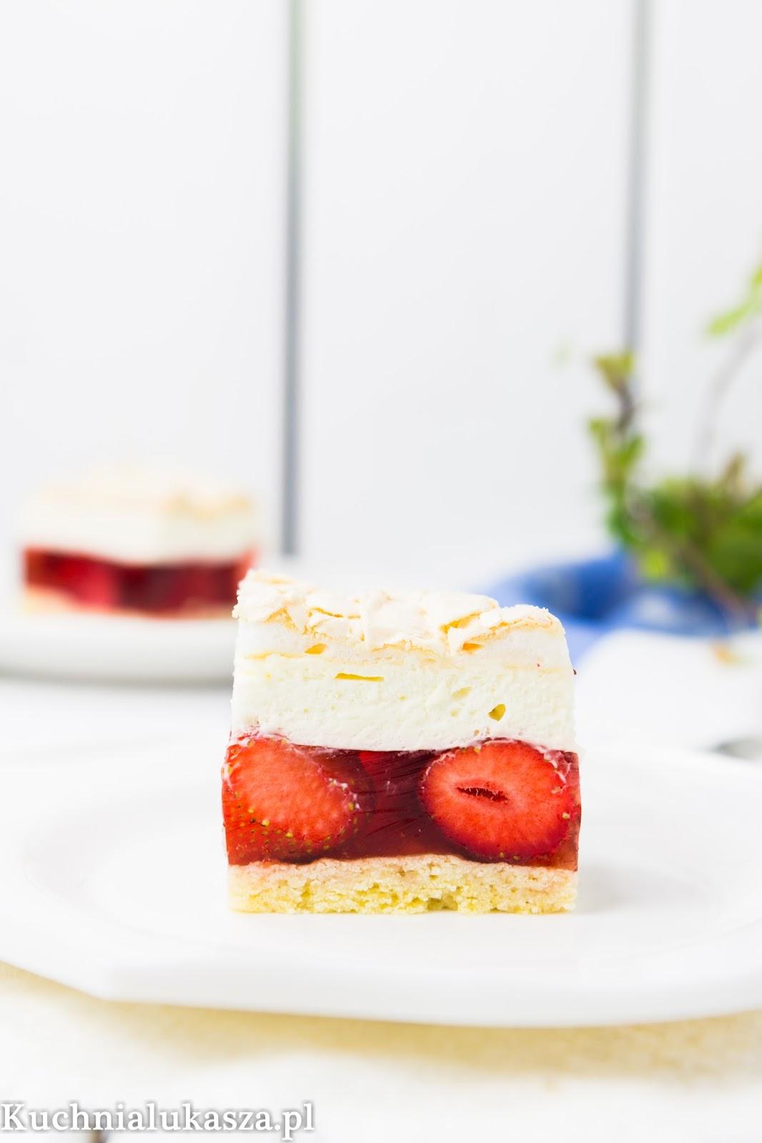 Ciasto chmurka truskawkowa