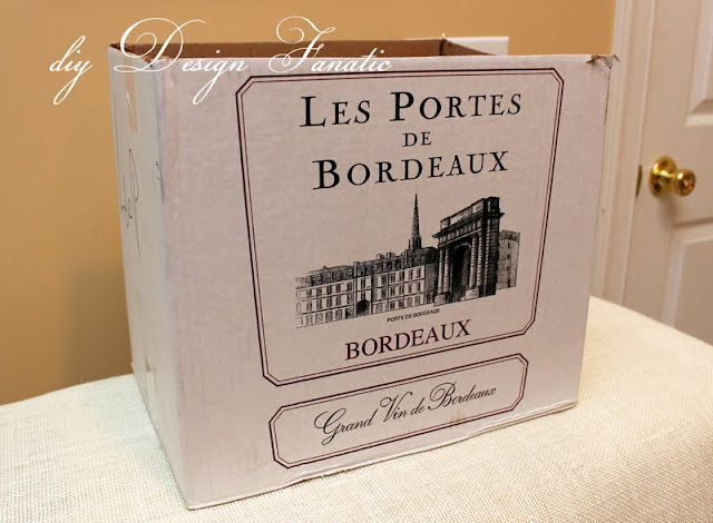 make a basket from a wine box, craft, cottage, cottage style, farmhouse, farmhouse style, diyDesignFanatic.com