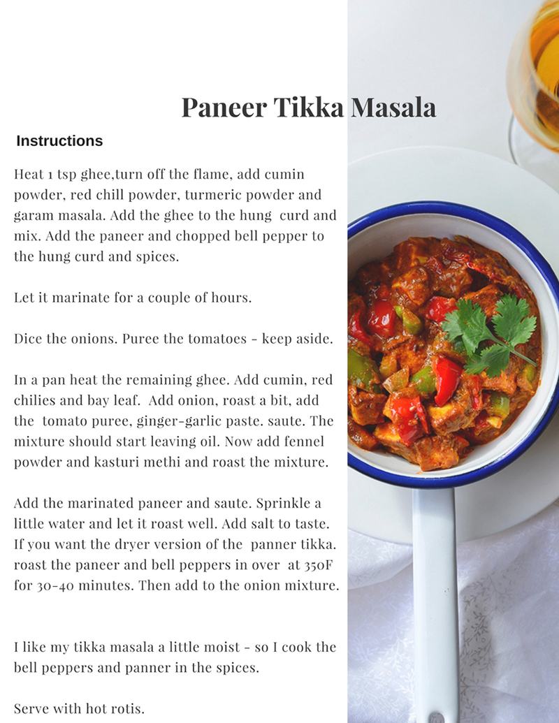 Paneer tikka masala, curry, Indian curry, Simi Jois photography