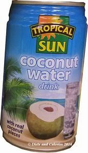 Tropical sun coconut water drink