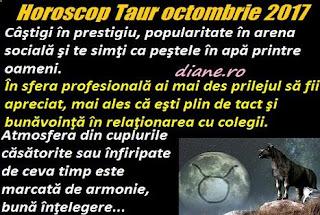 Horoscop octombrie 2017 Taur