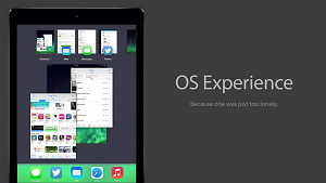 OS Experience Desktop Multitasking iPad