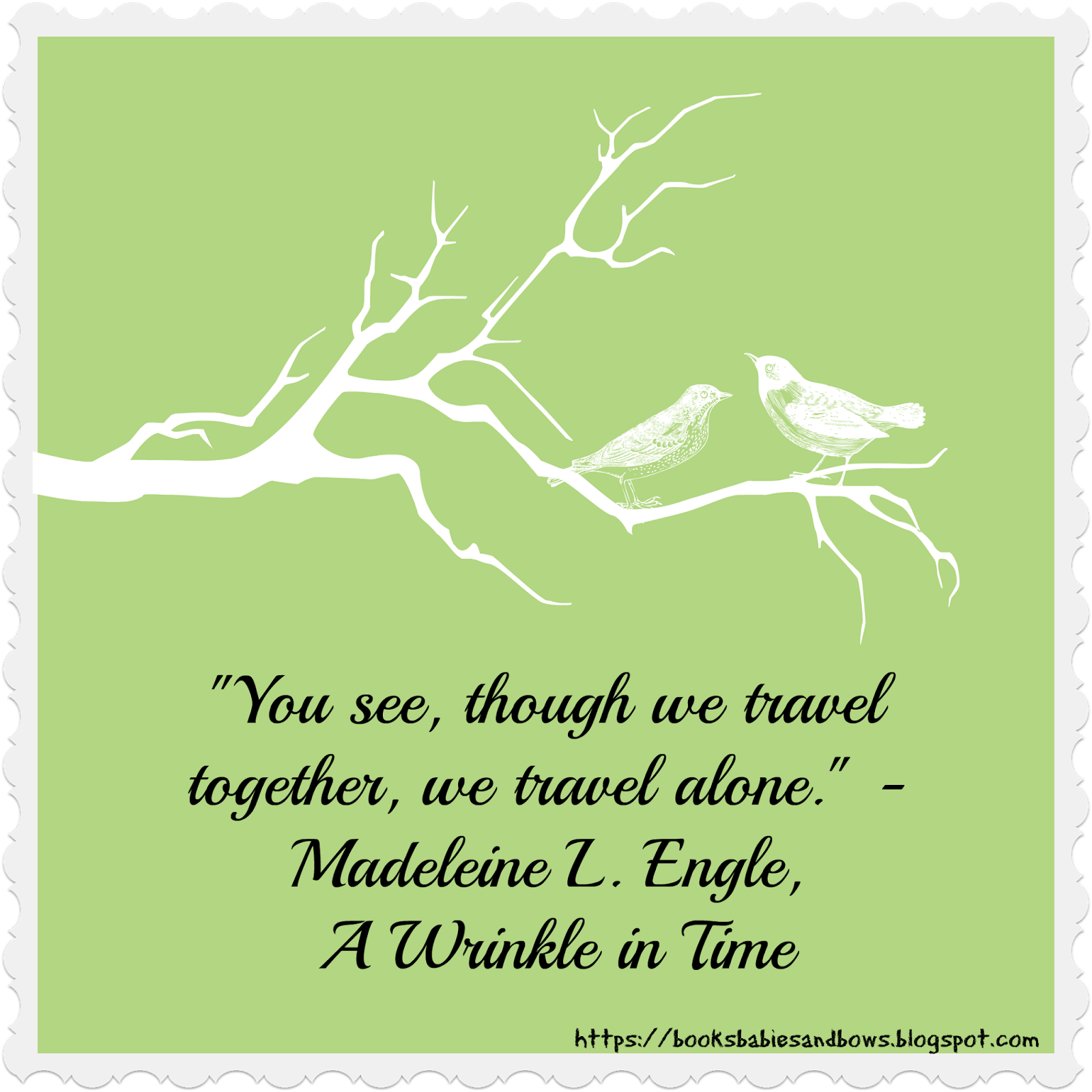 Somewhere In Time Quotes: Books, Babies, And Bows: Just A Wrinkle In Time