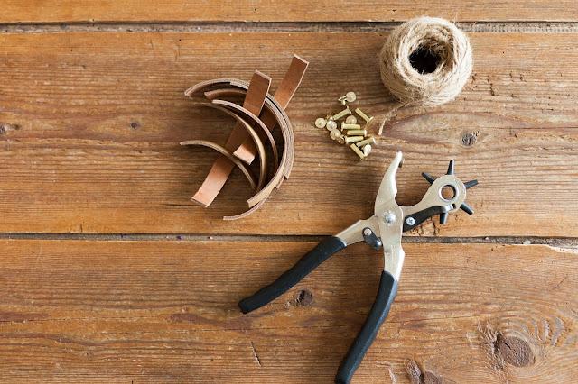 DIY-Anhänger aus Leder
