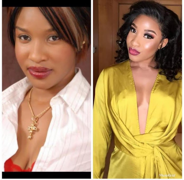 Popular Nigerian Actress, Tonto Dikeh, 10 years challenge