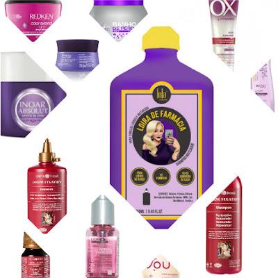 produtos cabelos coloridos low poo