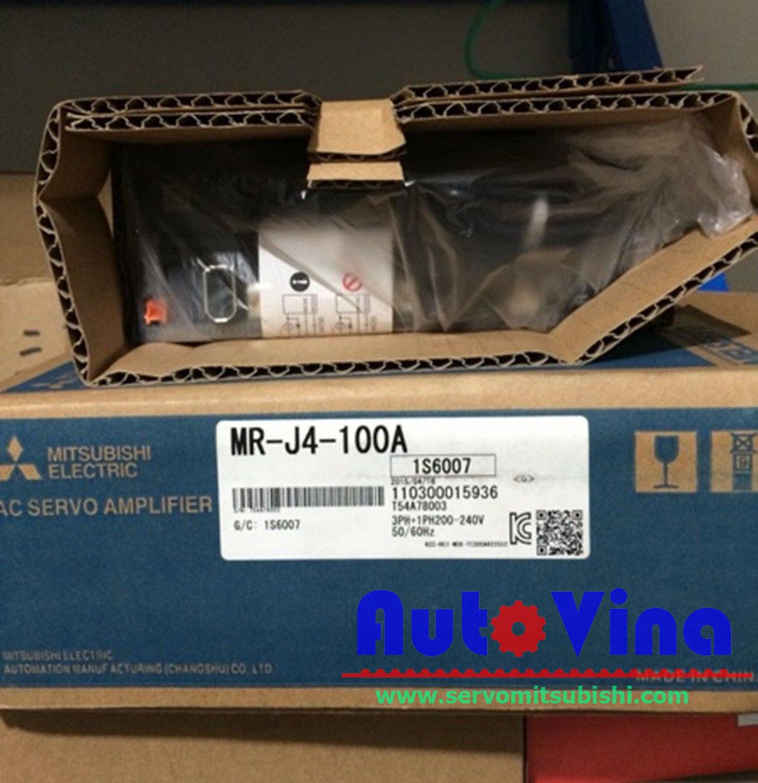 Đại lý bán Servo Mitsubishi MR-J4-100A Amplifier 1000W, động cơ servo HG-SR81, HG-SR102