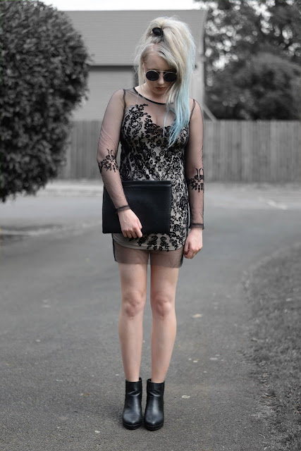 Sammi Jackson - Zaful See Through Mesh Lace Dress