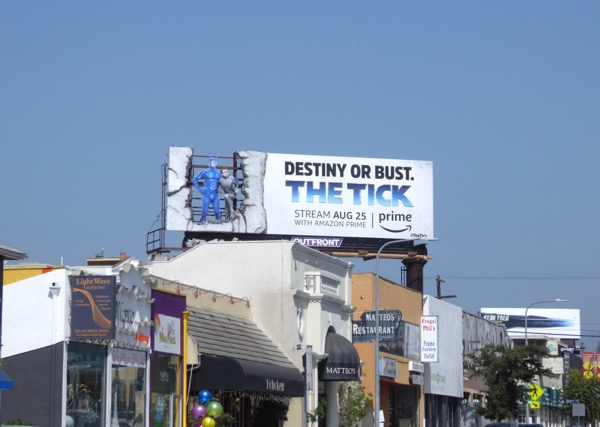 Tick Destiny or bust billboard