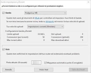 Configurare uTorrent