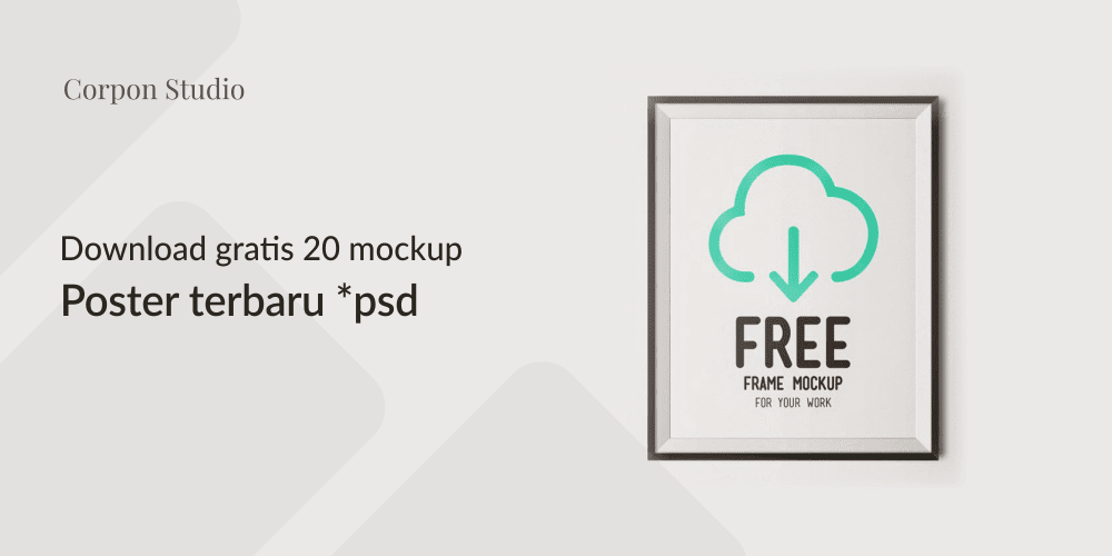 Download Poster Mockup Terbaru Gratis